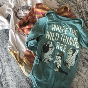 Where the Wild Things Are LOT onsies, sz 18mo